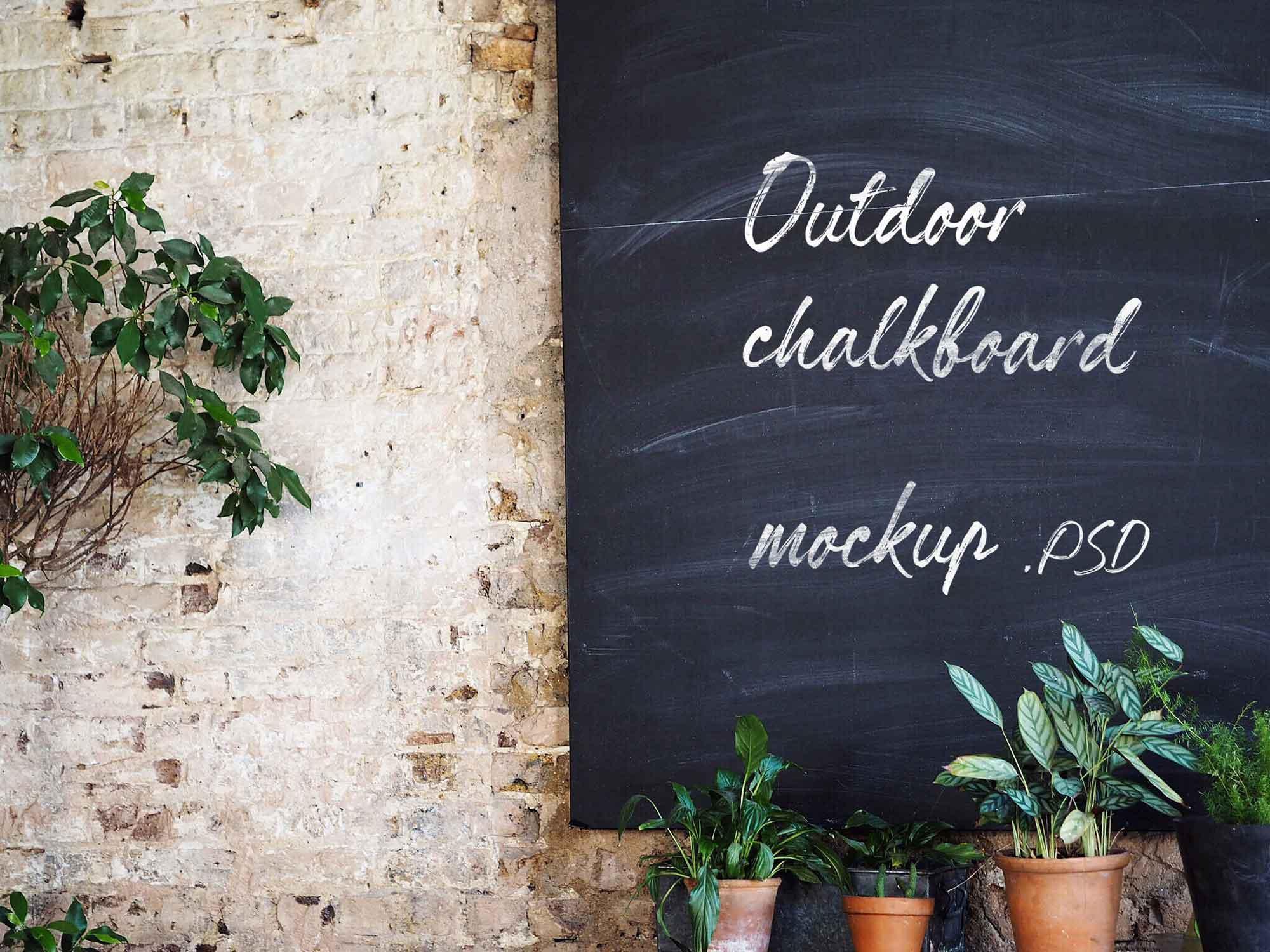 Outdoor Chalkboard Mockup