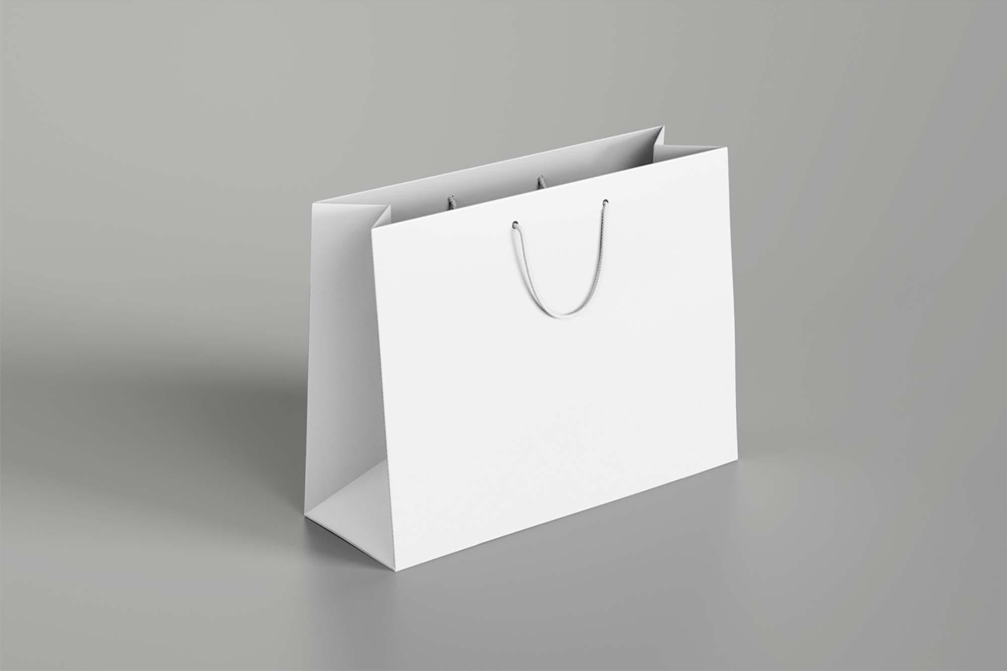 Paper Shopping Bag Mockup 2