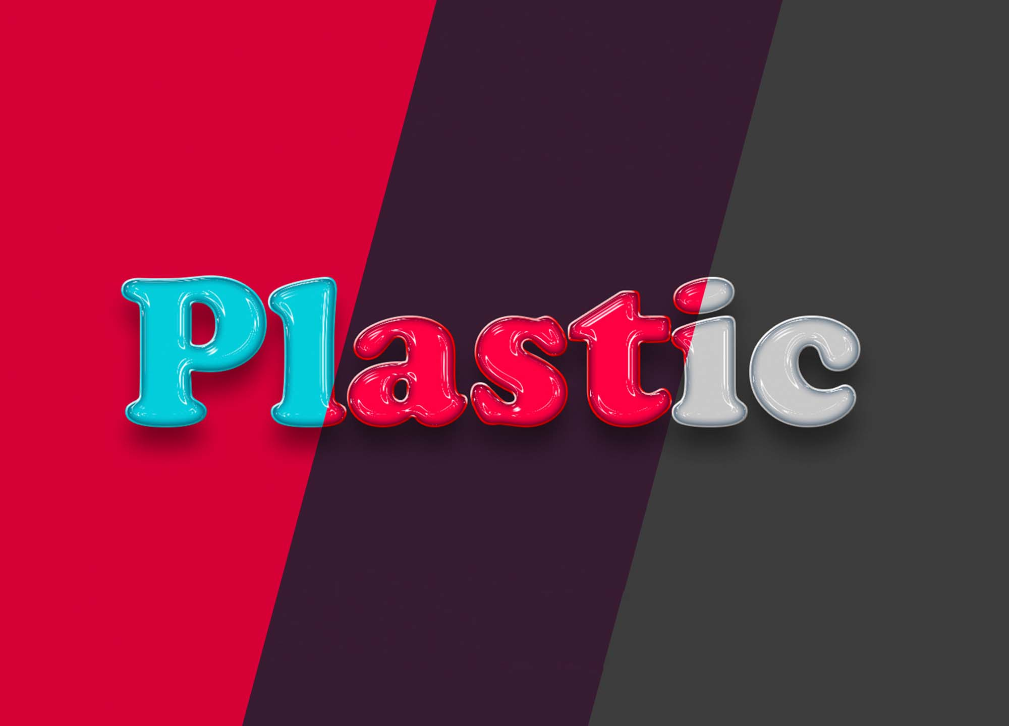 Plastic Text Effect 2