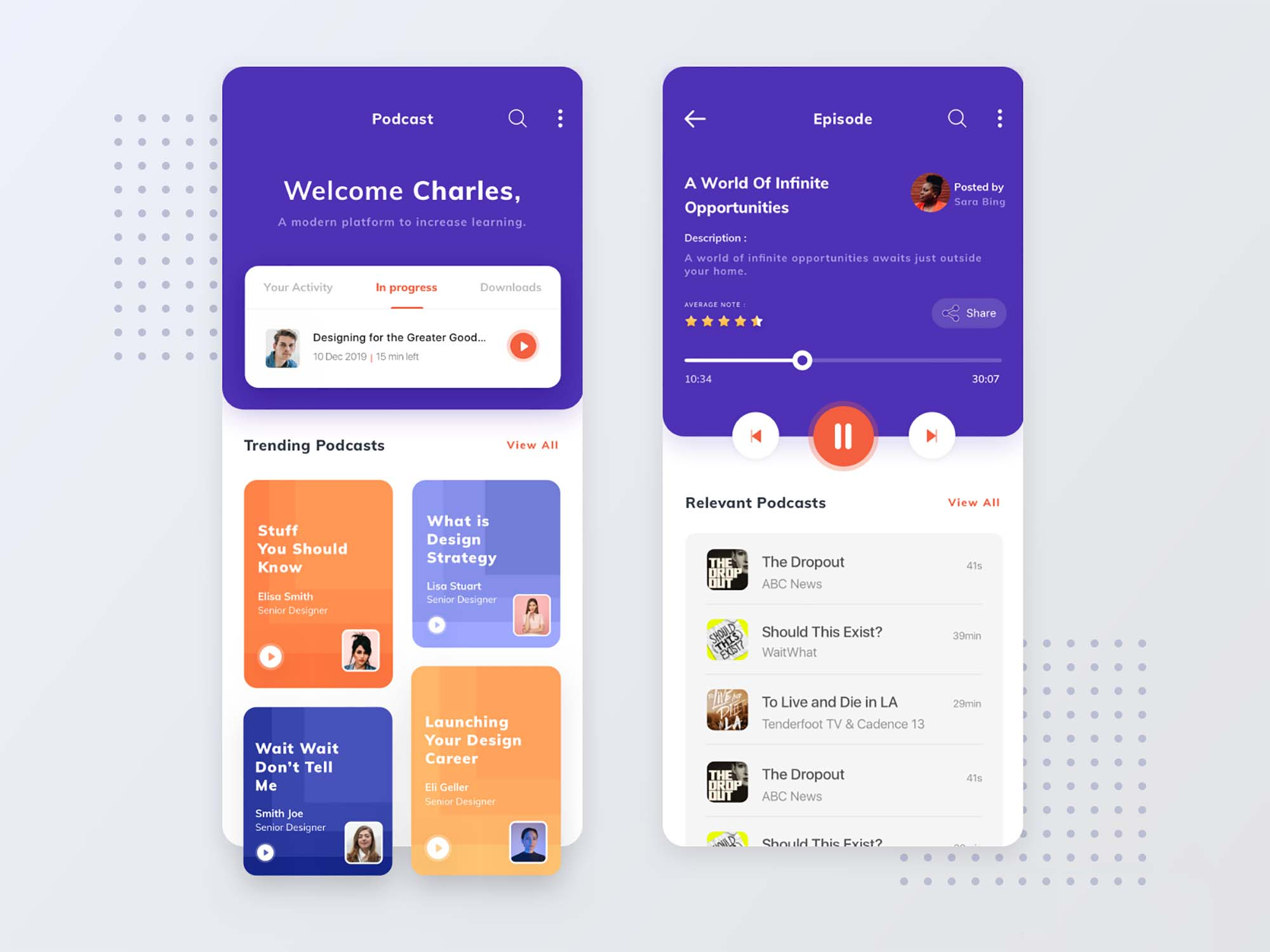 Podcast App Exploration Template