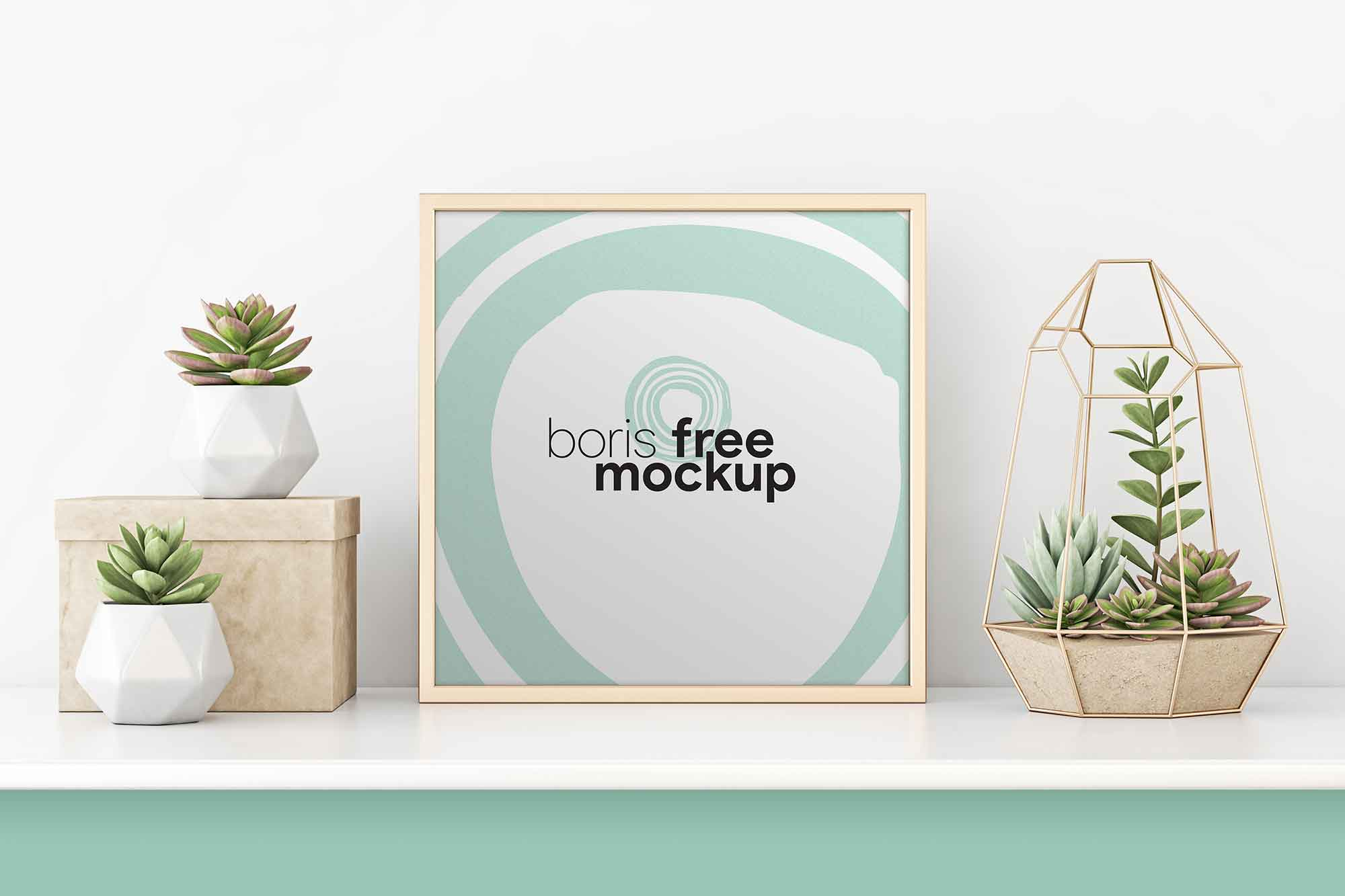 Professional Square Poster Mockup