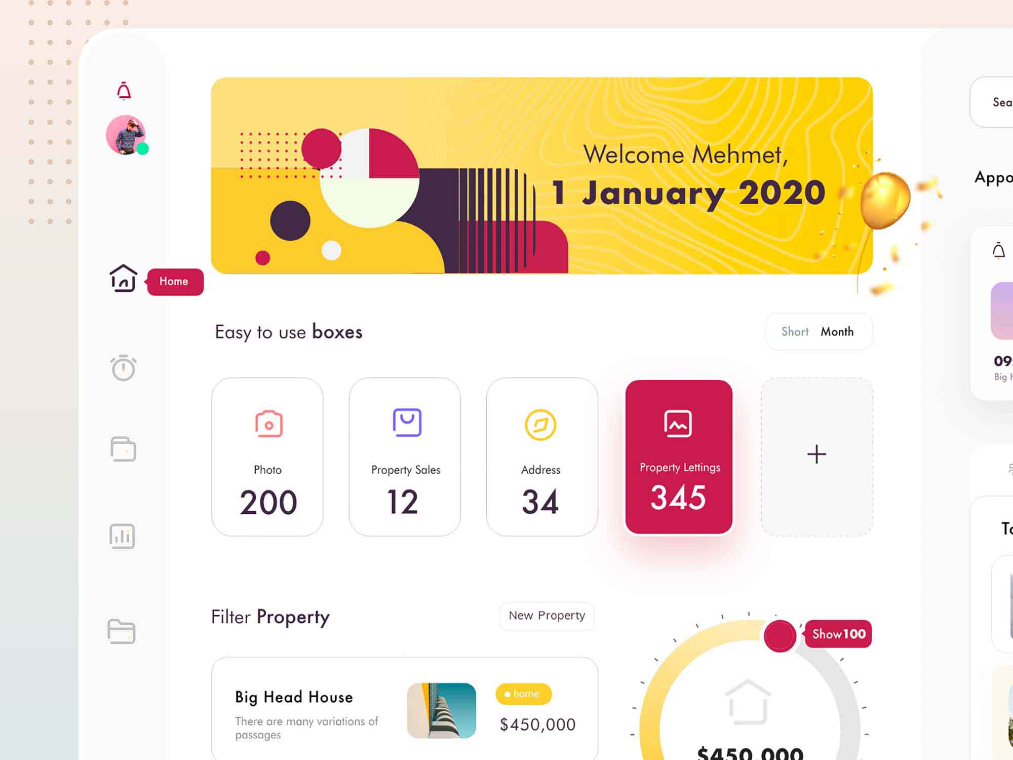 Property Management Dashboard UI Template 2