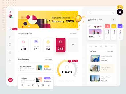 Property Management Dashboard UI Template