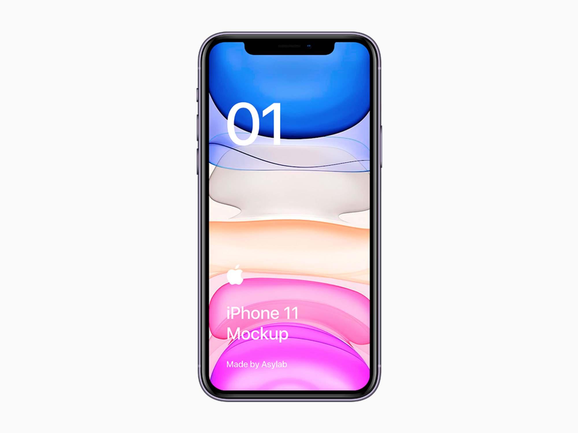 Purple iPhone 11 Mockup