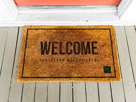 Realistic Doormat Mockup
