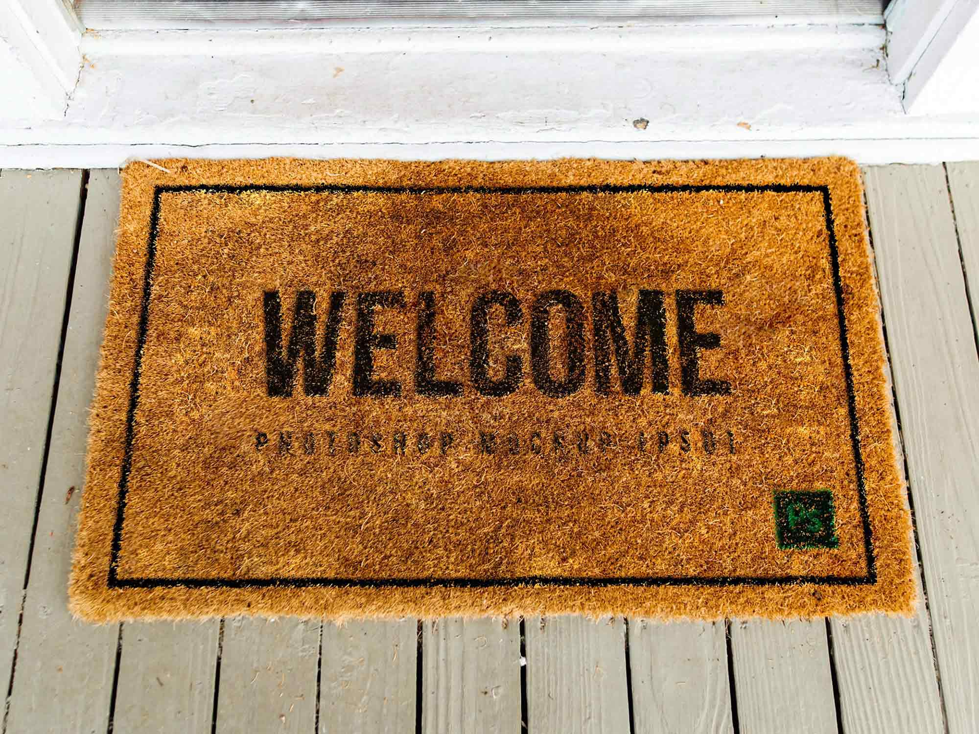 Realistic Doormat Mockup 2