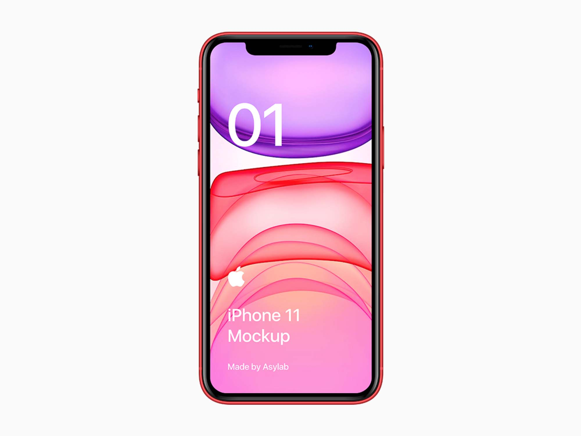 Red iPhone 11 Mockup