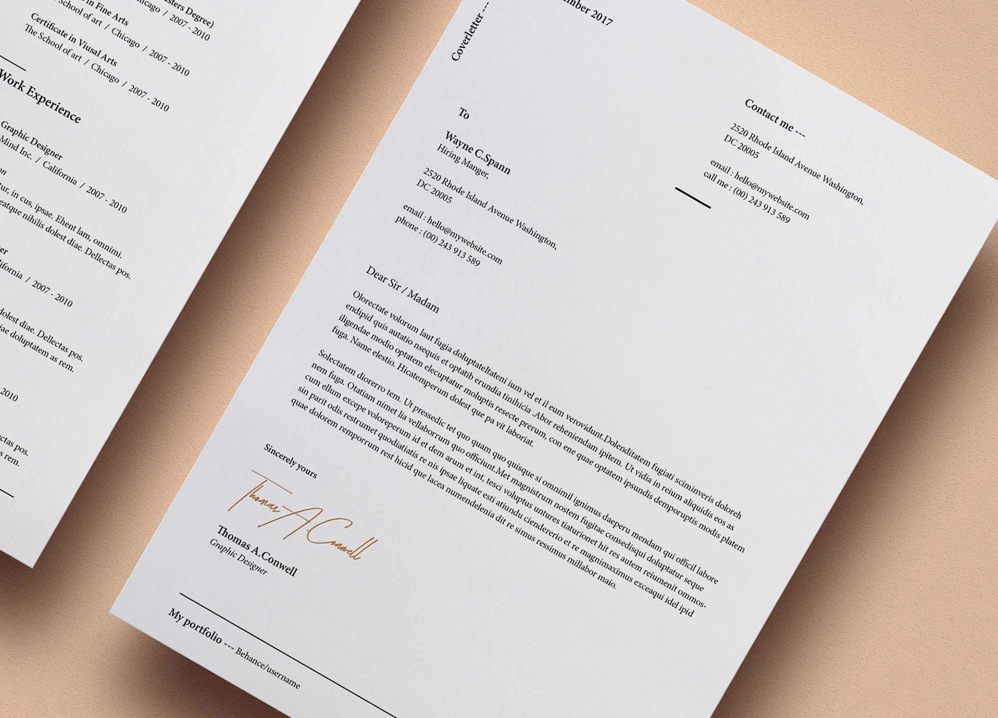 Resume Template Vol 8 2