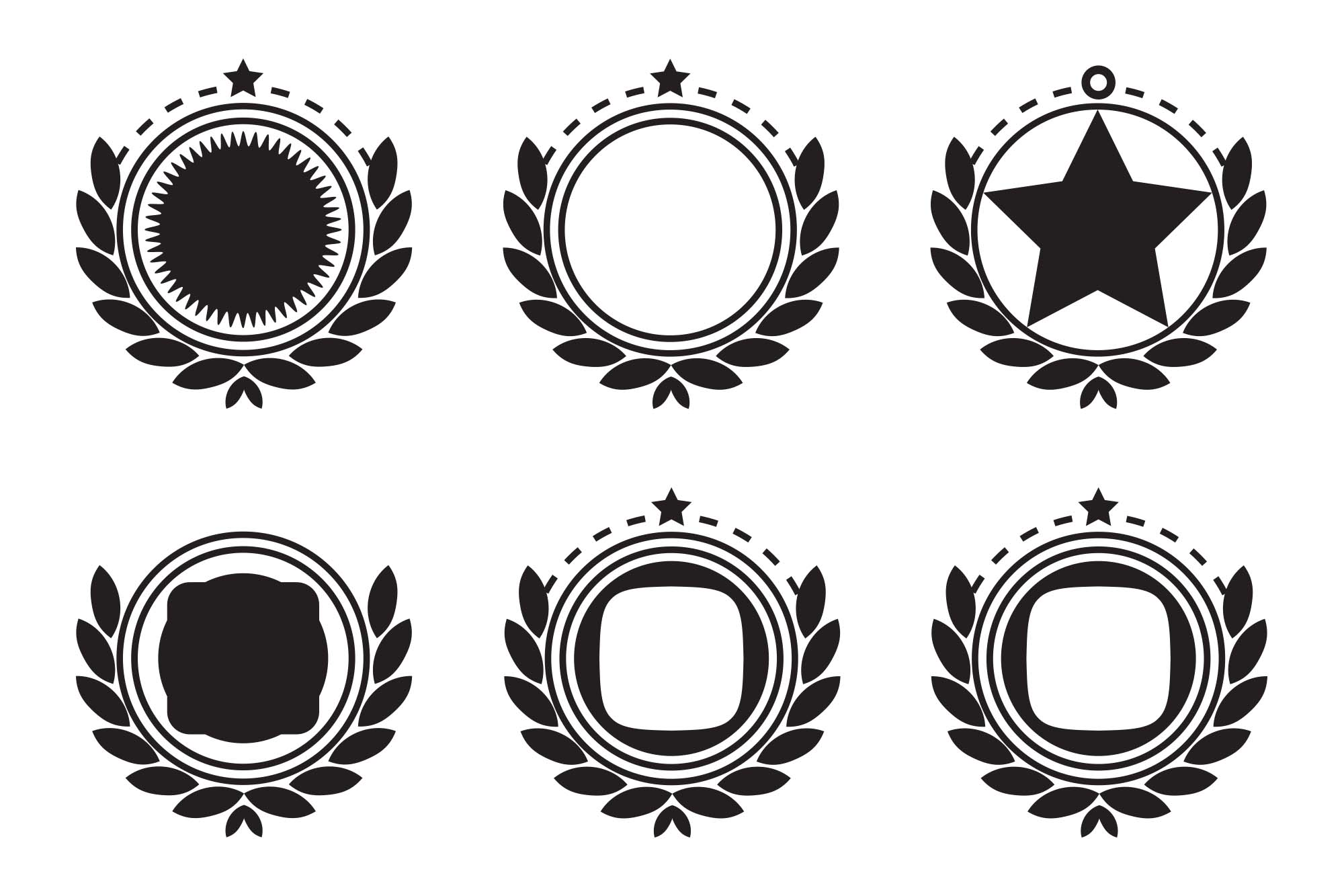 Retro Emblem Badge Decorations 2