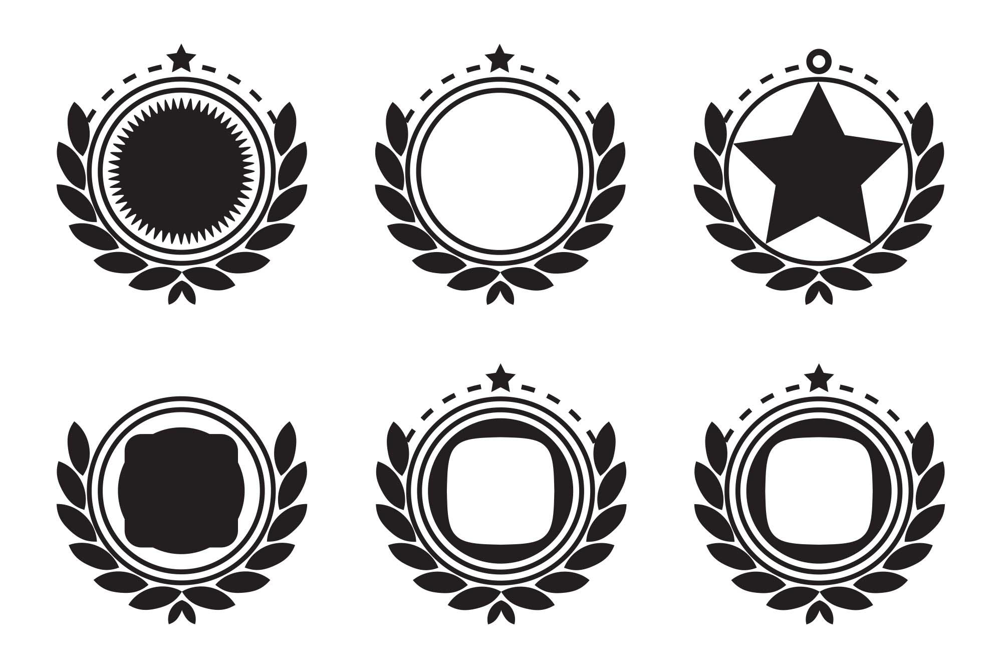 Retro Emblem Badge Decorations 2