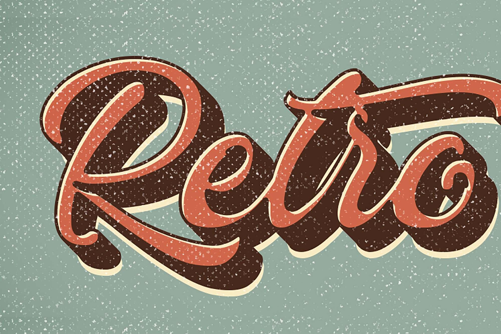 Retro Vintage Text Effect 1
