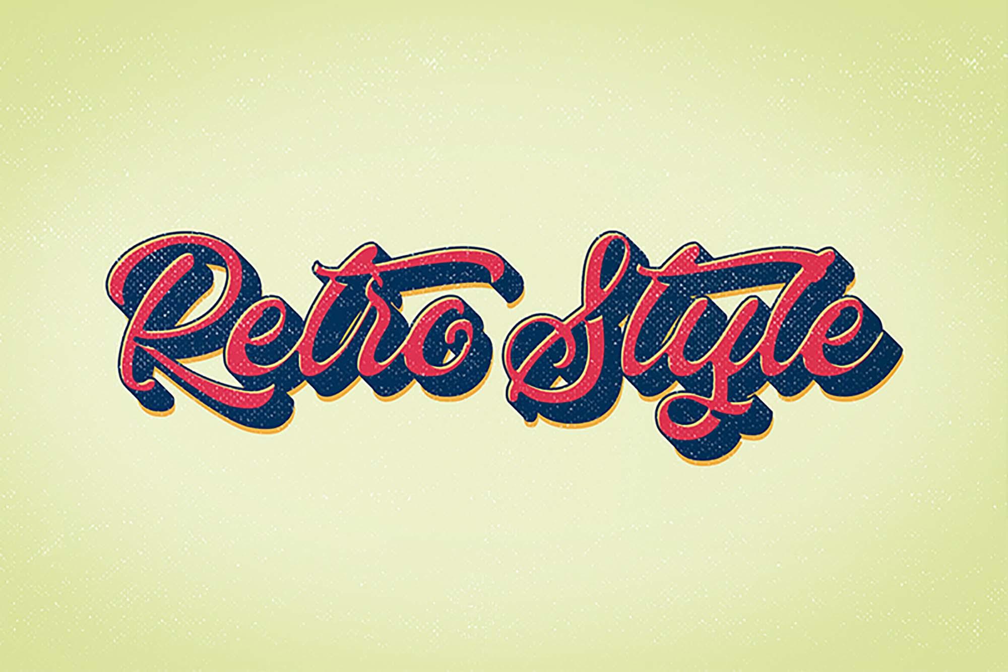 Retro Vintage Text Effect 2