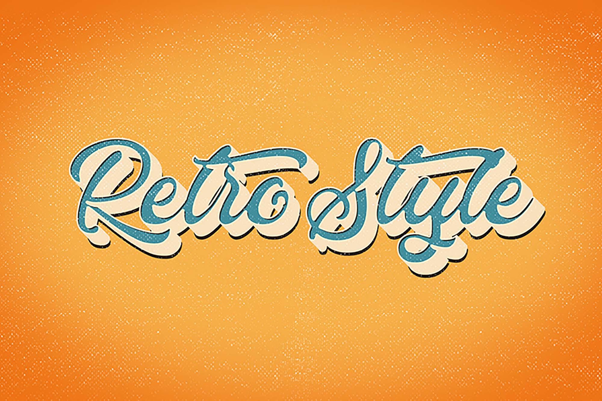 Retro Vintage Text Effect 3