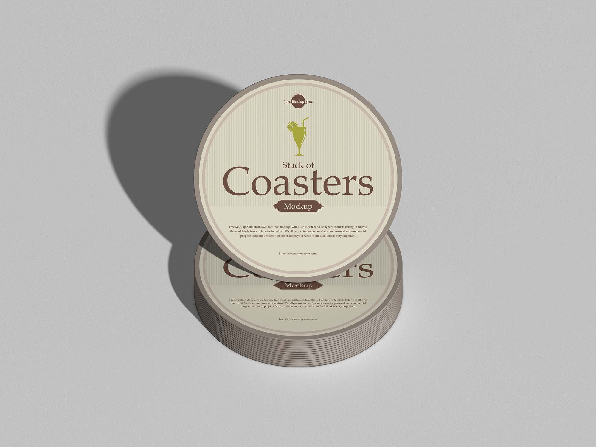 Round Coasters Mockup