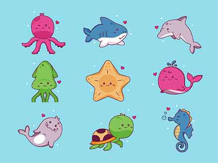 Sealife Vector Icons
