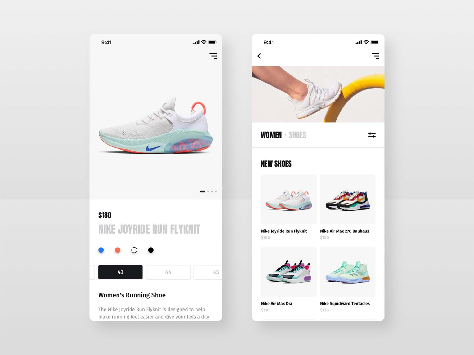 Shoes Shop E-commerce UI Template