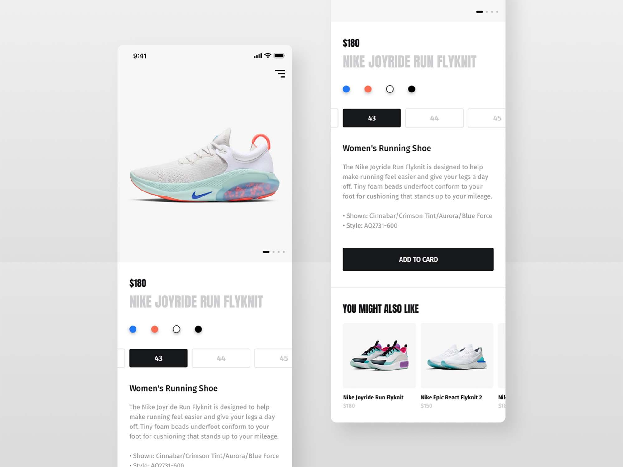 Shoes Shop E-commerce UI Template 2