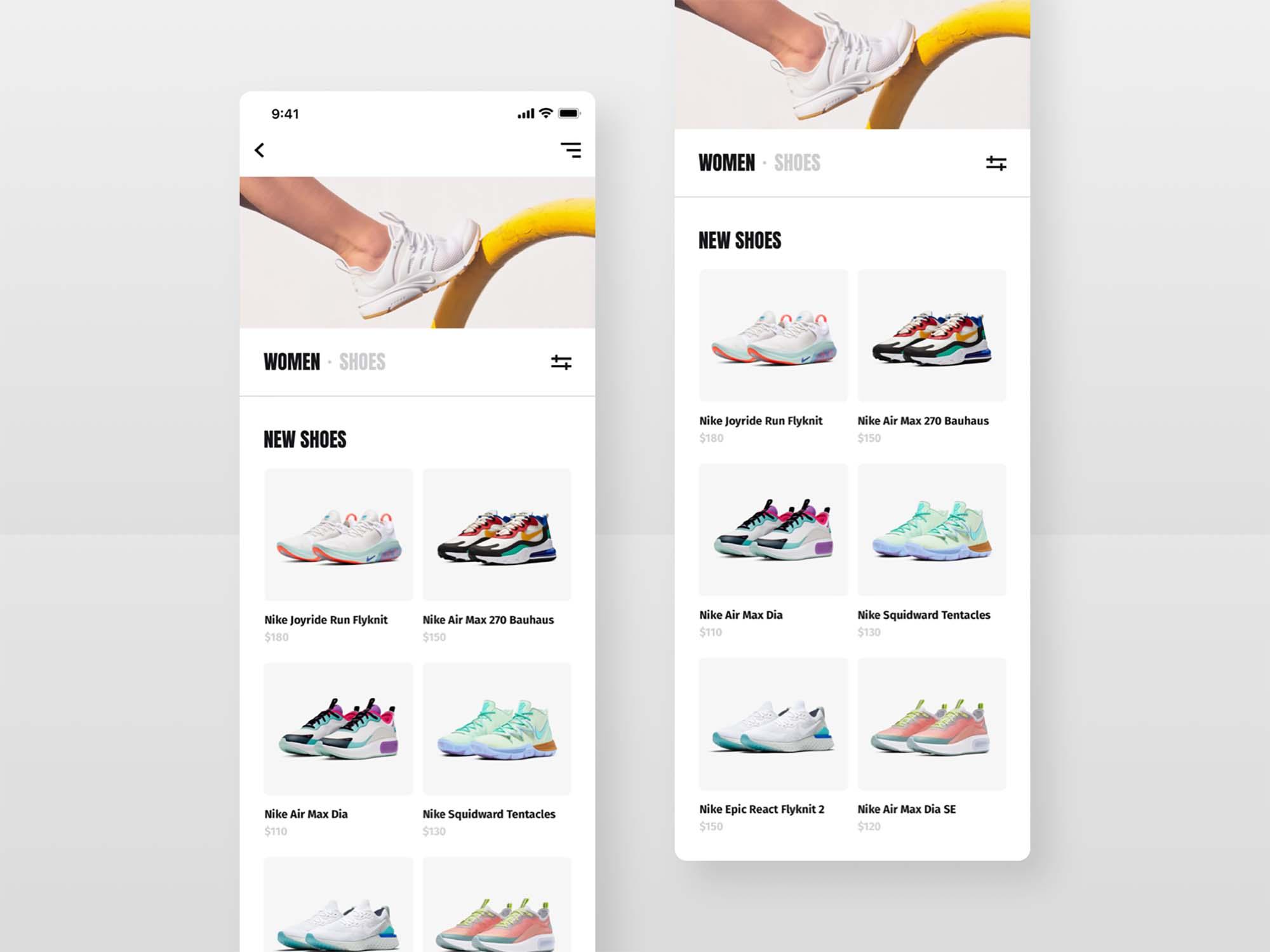 Shoes Shop E-commerce UI Template 3