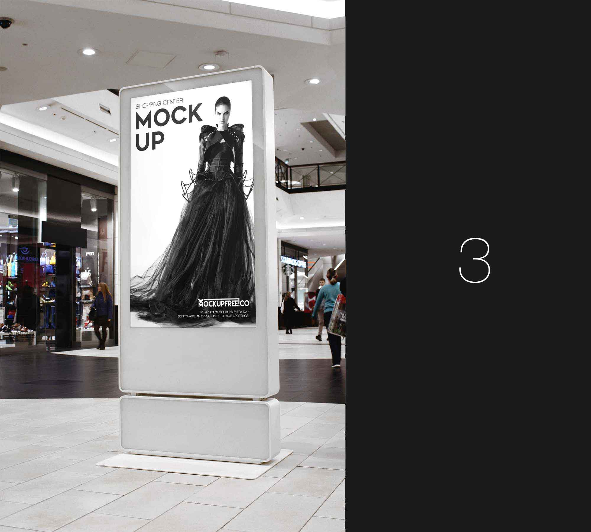 Shopping Center Billboard Mockup 3