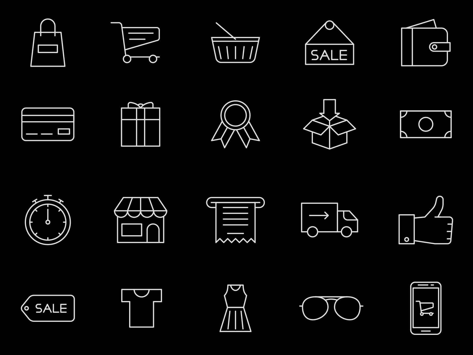 Shopping Vector Icons 2