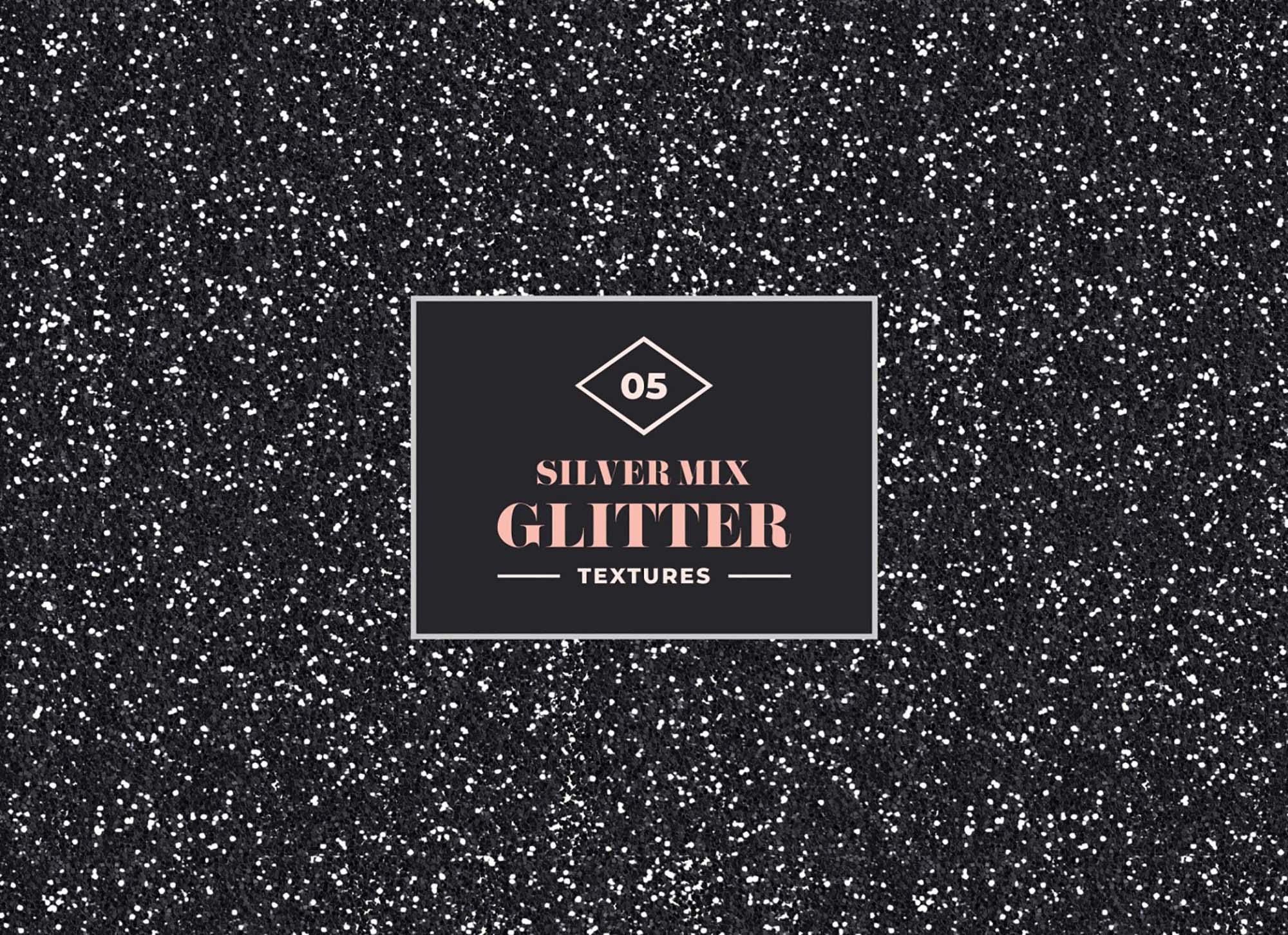 Silver Mix Glitter Textures