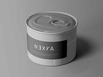 Small Tin Can Mockup
