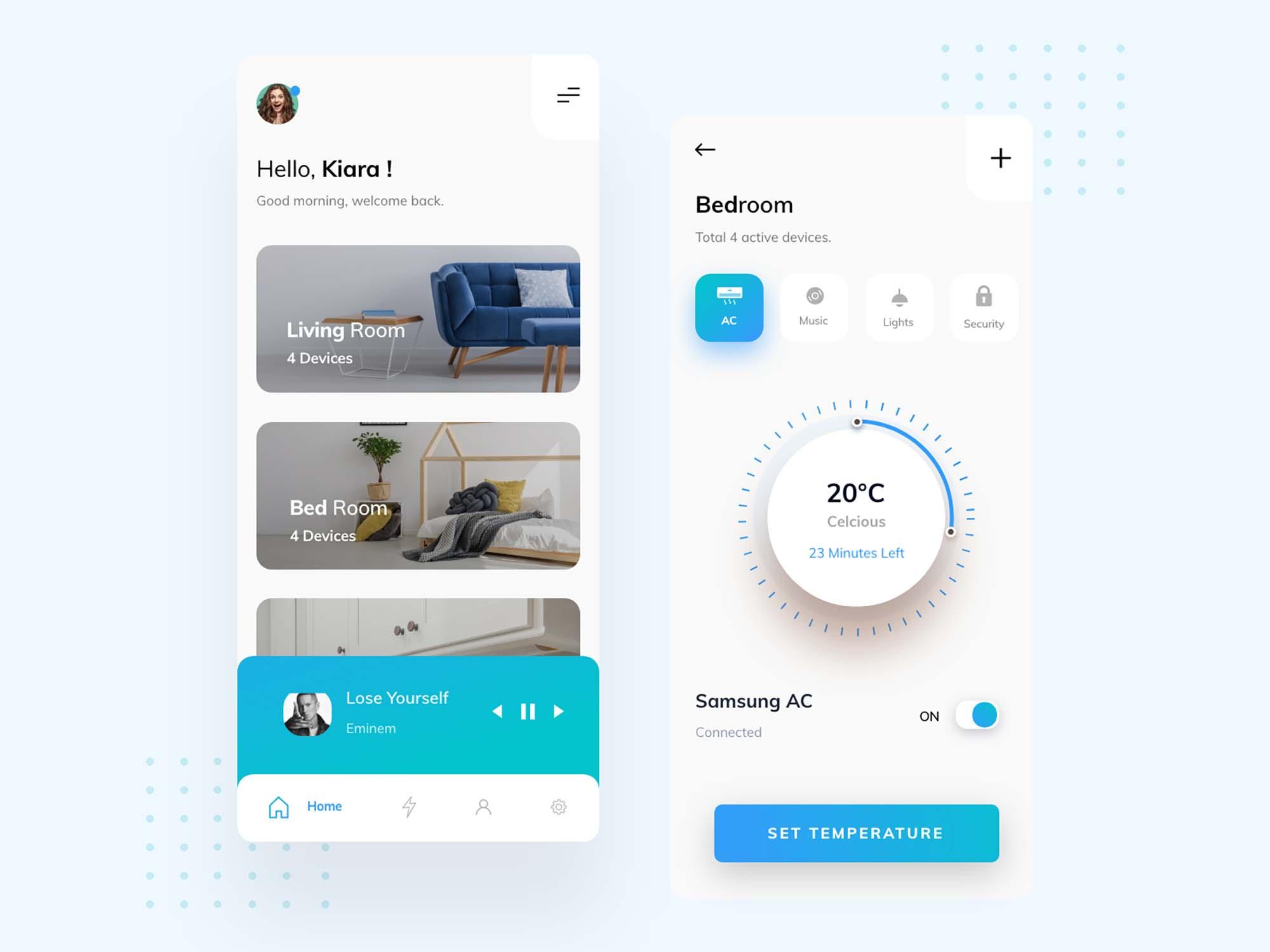 Smart Home Mobile App Ui Template Xd