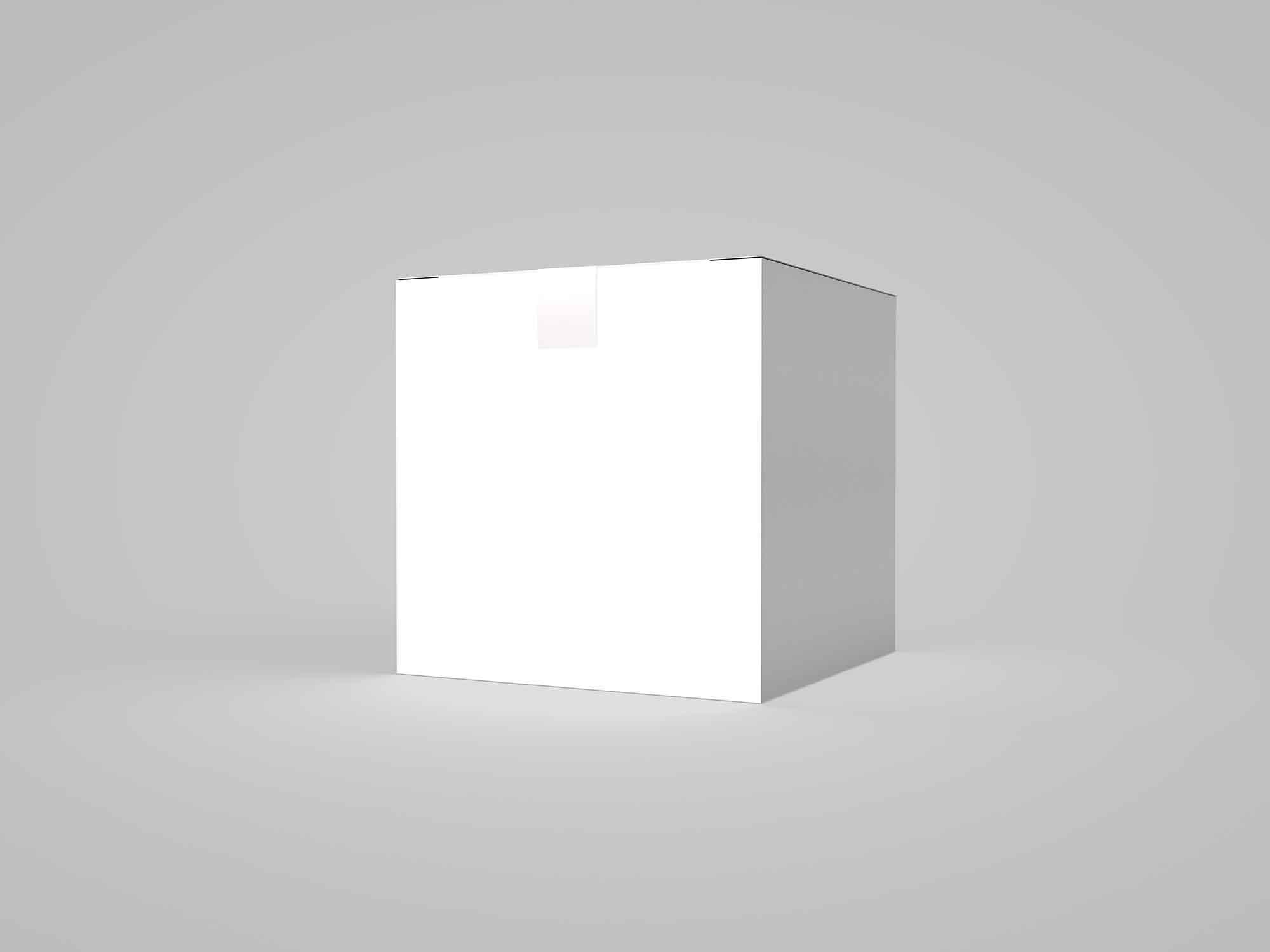 Square Paper Box Mockup 2