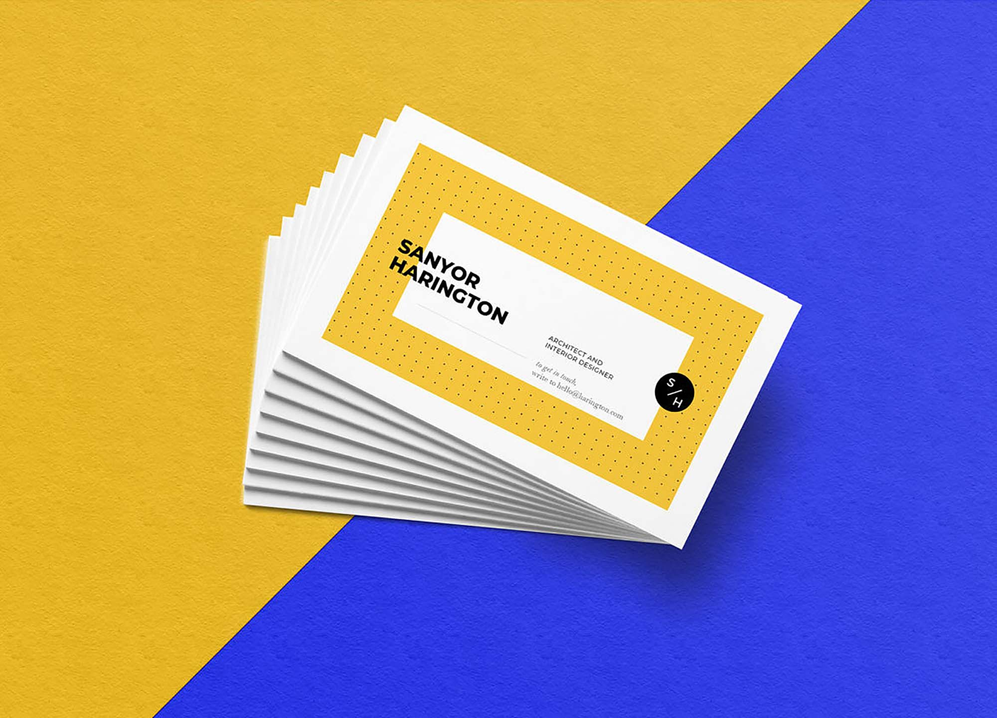 Stacked Business Card Mockup 3