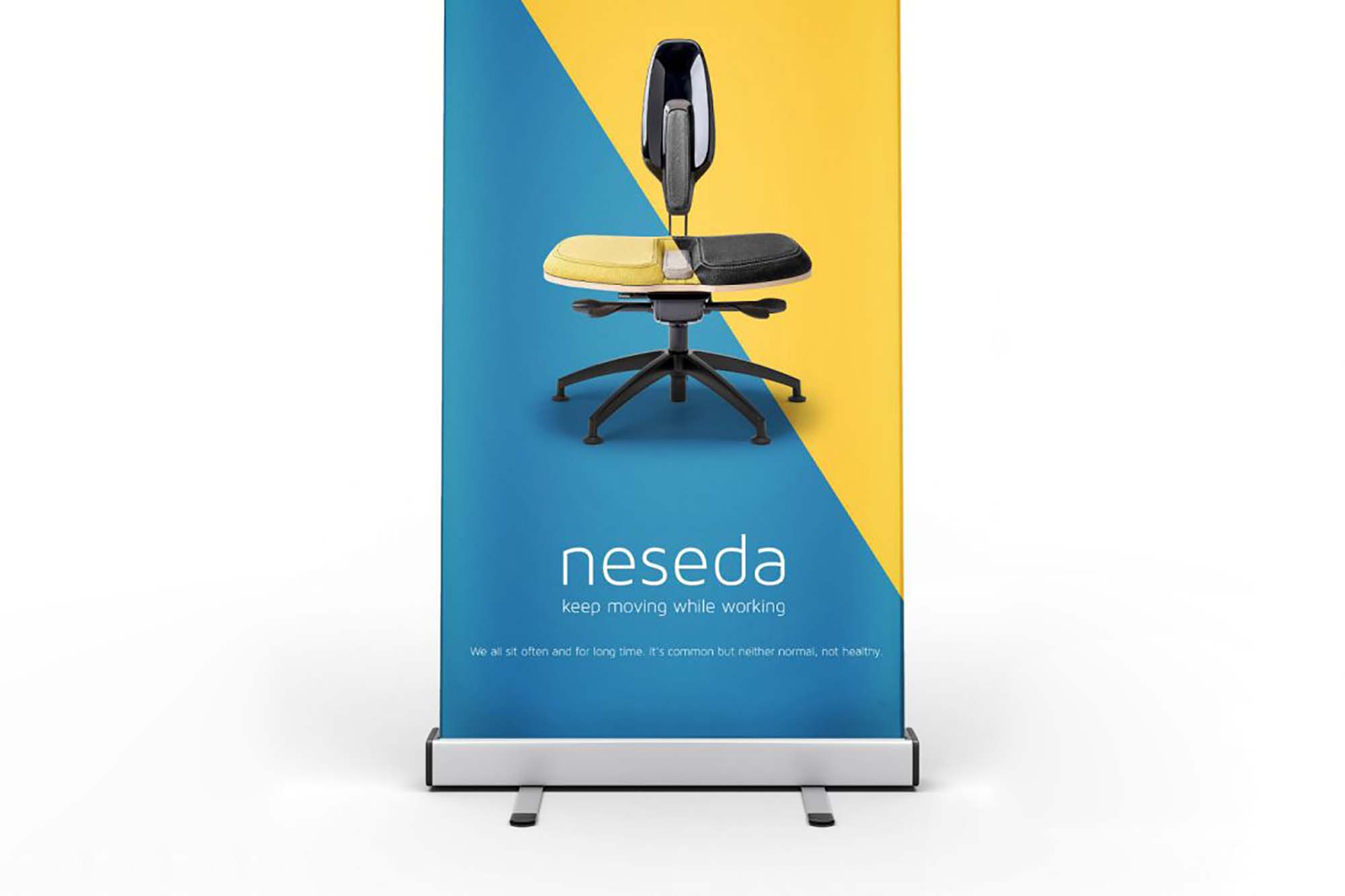 Stand Rollup Banner Mockup