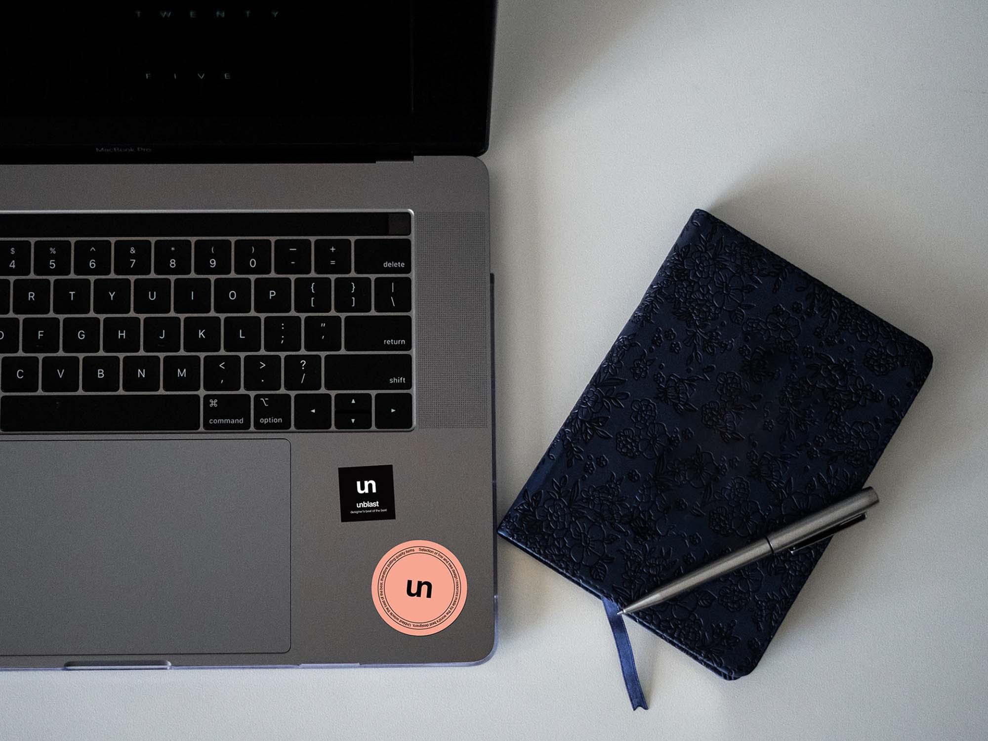 Sticker on Laptop Mockup
