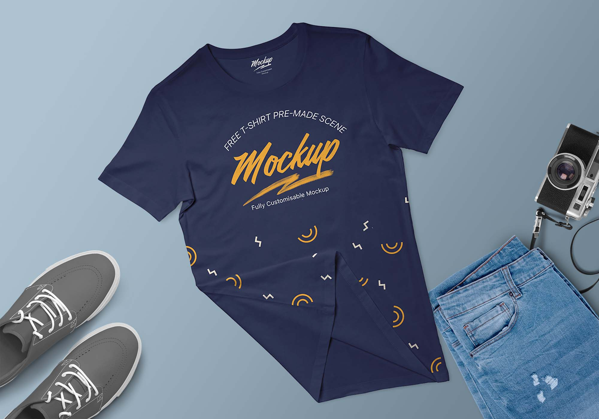 T-Shirt Apparel Scene Mockup
