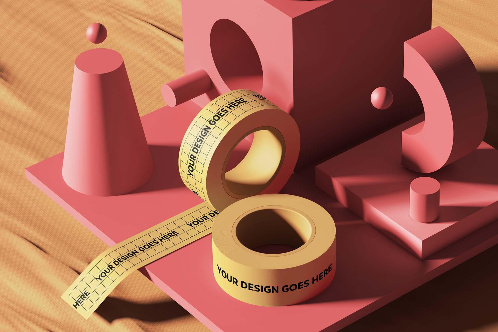 Tape 3D Mockup