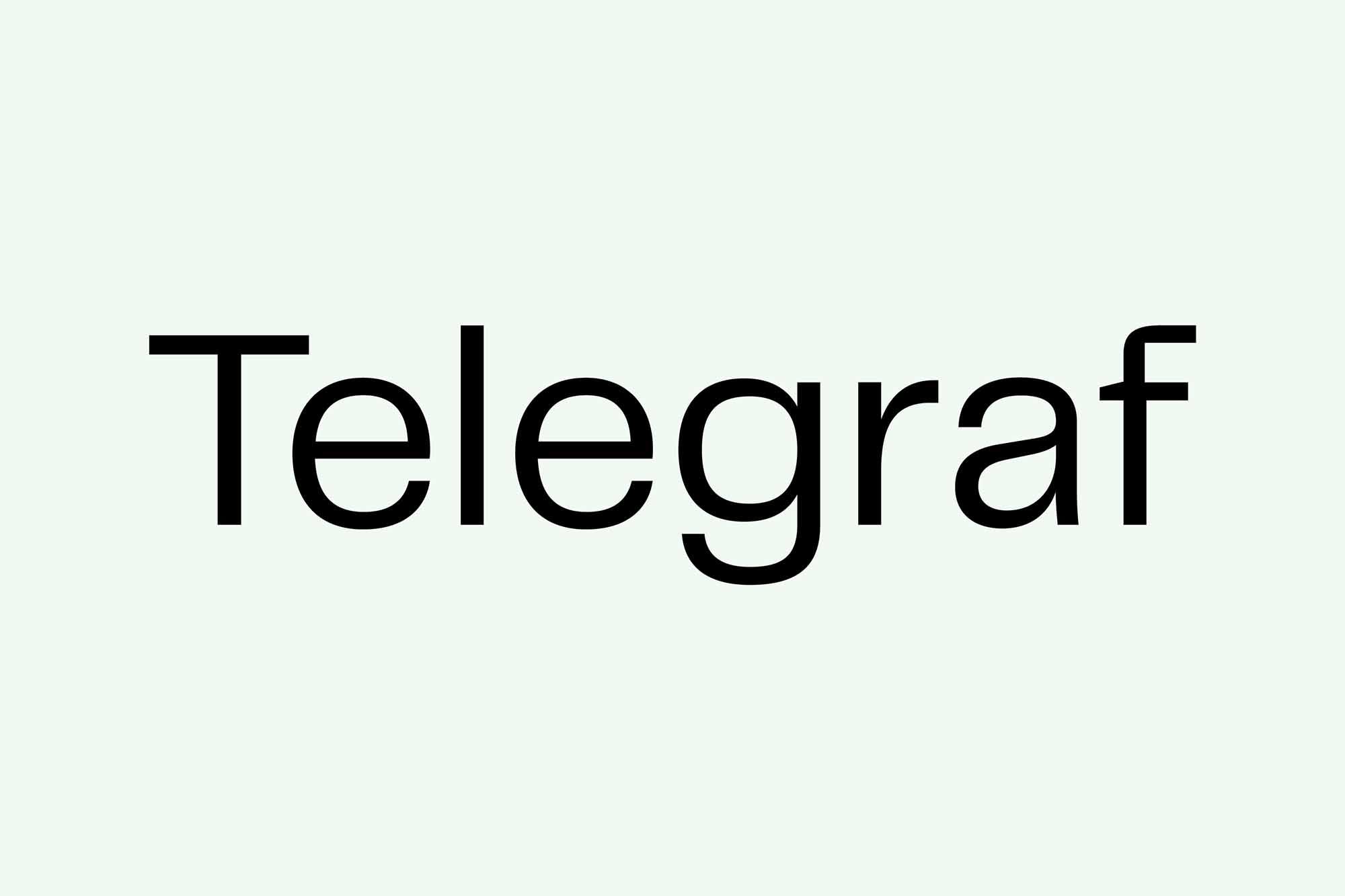 Telegraf Sans Serif Font