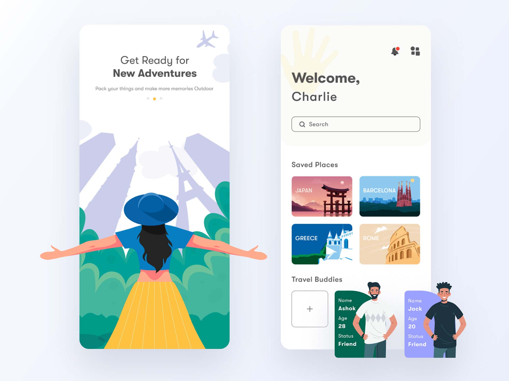 Travel App Ui Template