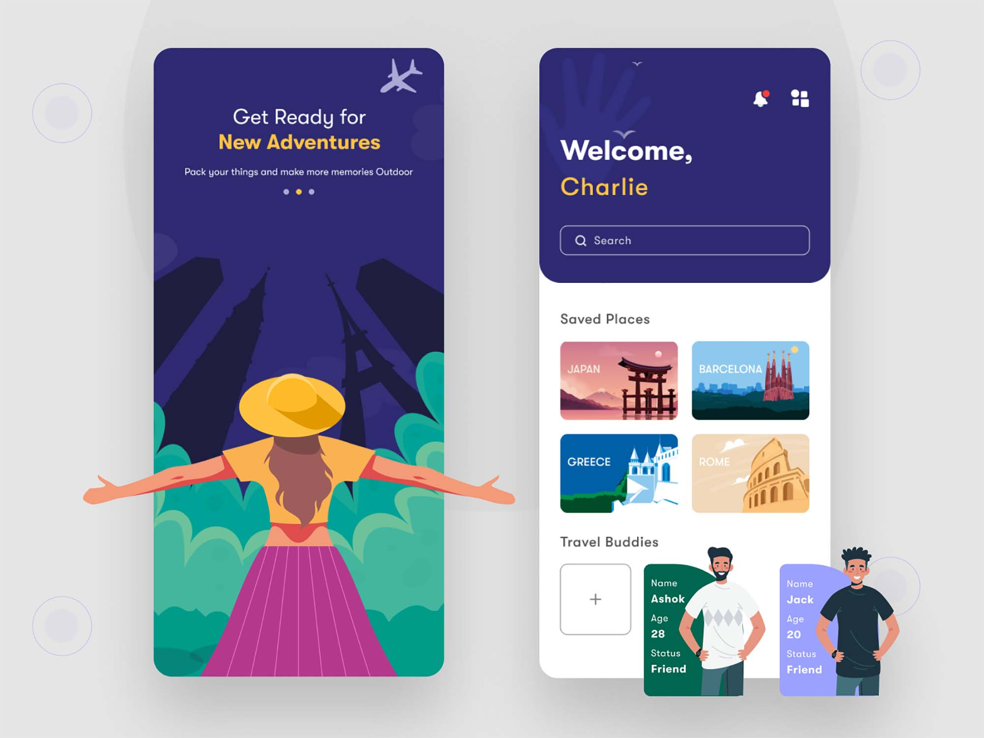 Travel App Ui Template 2