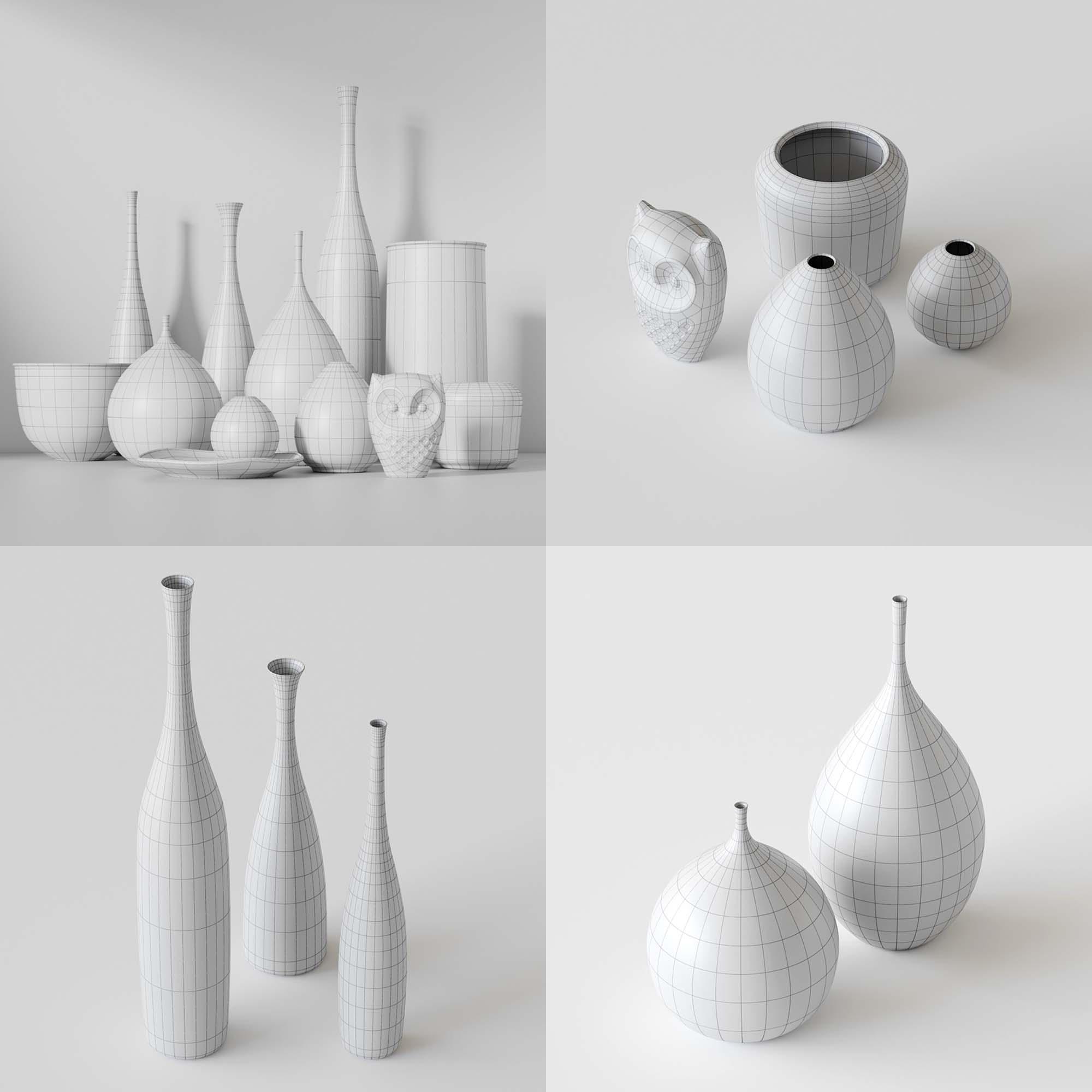 Vase Set 3D Models 3