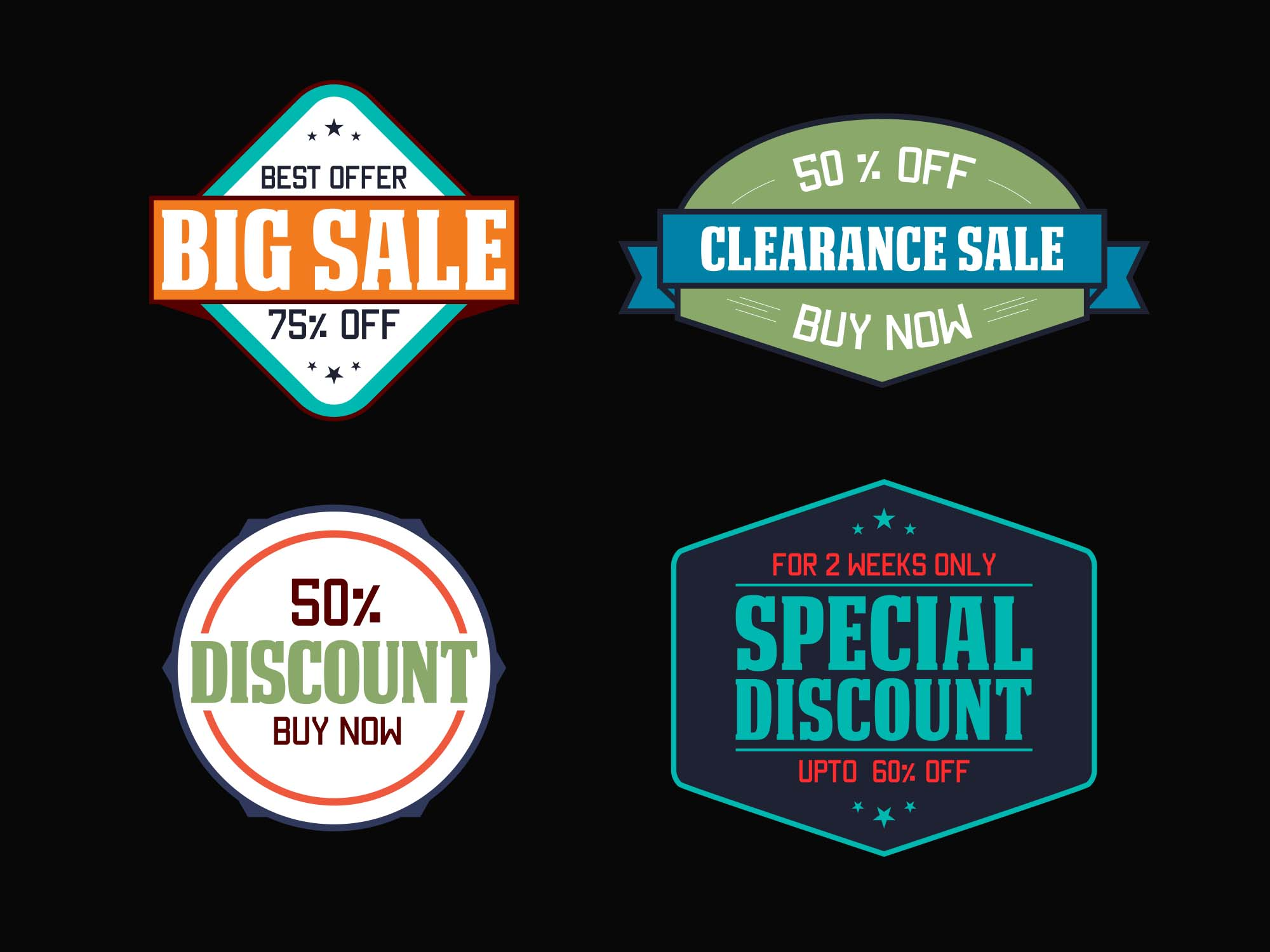 Sale & Discount Vector Icons 2