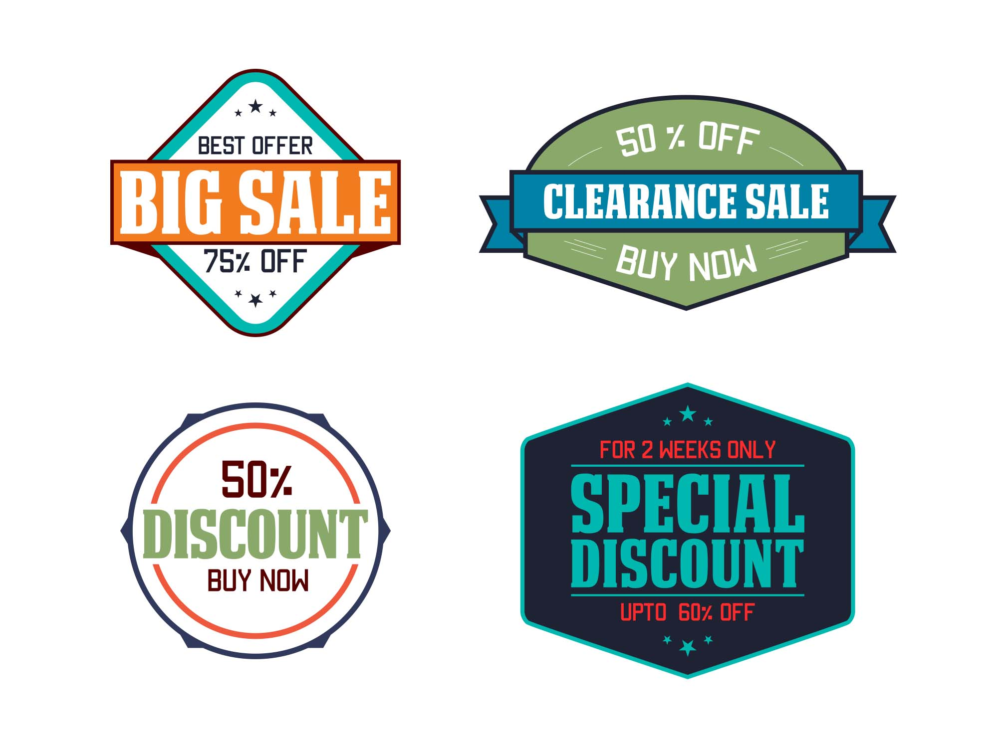 Sale & Discount Vector Icons