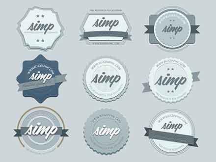 Vintage Retro Badges
