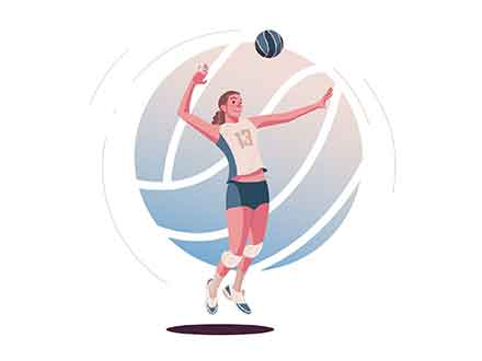 Volleyball Vector Illustration