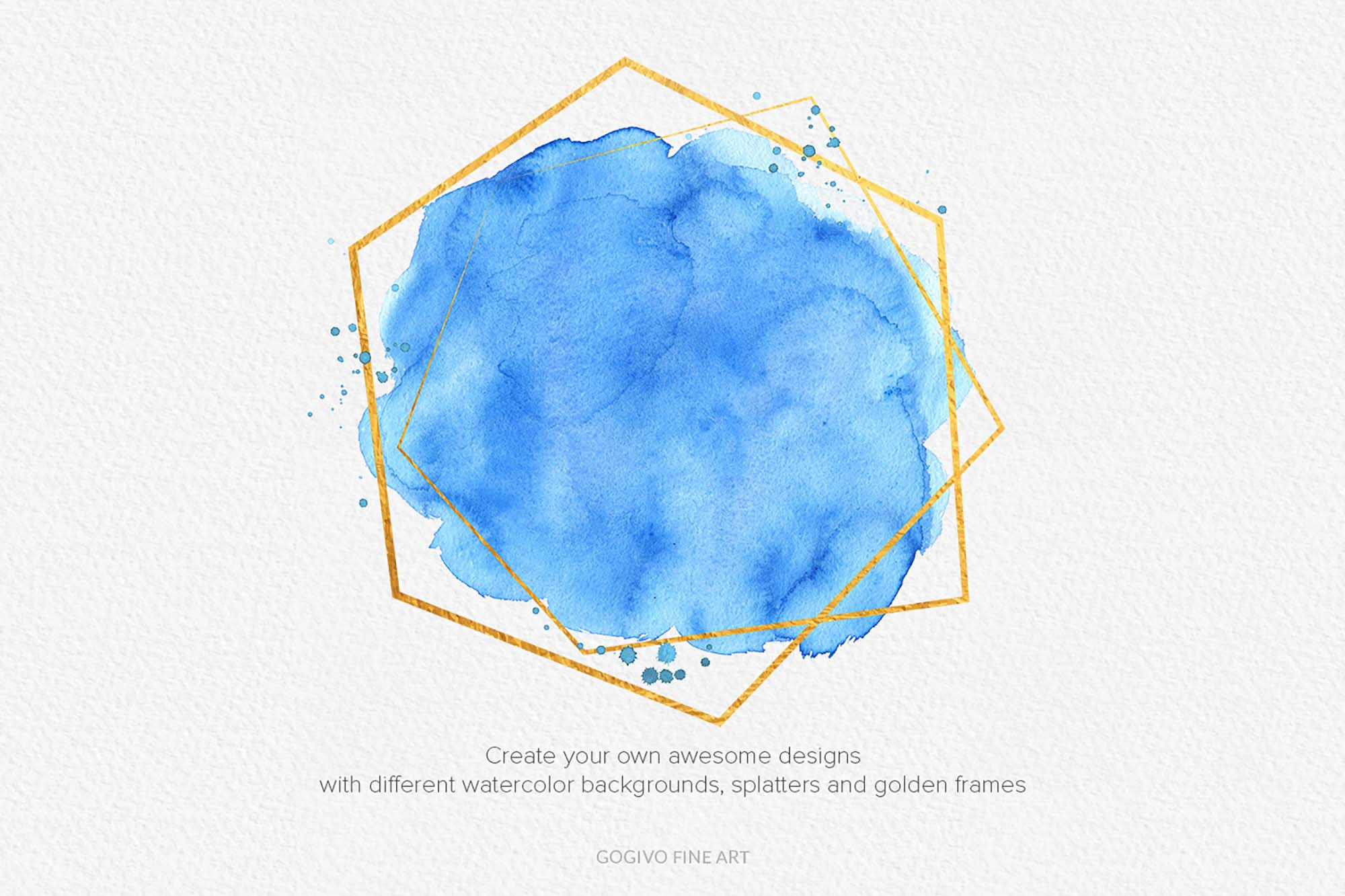 Watercolor Backgrounds and Splatters