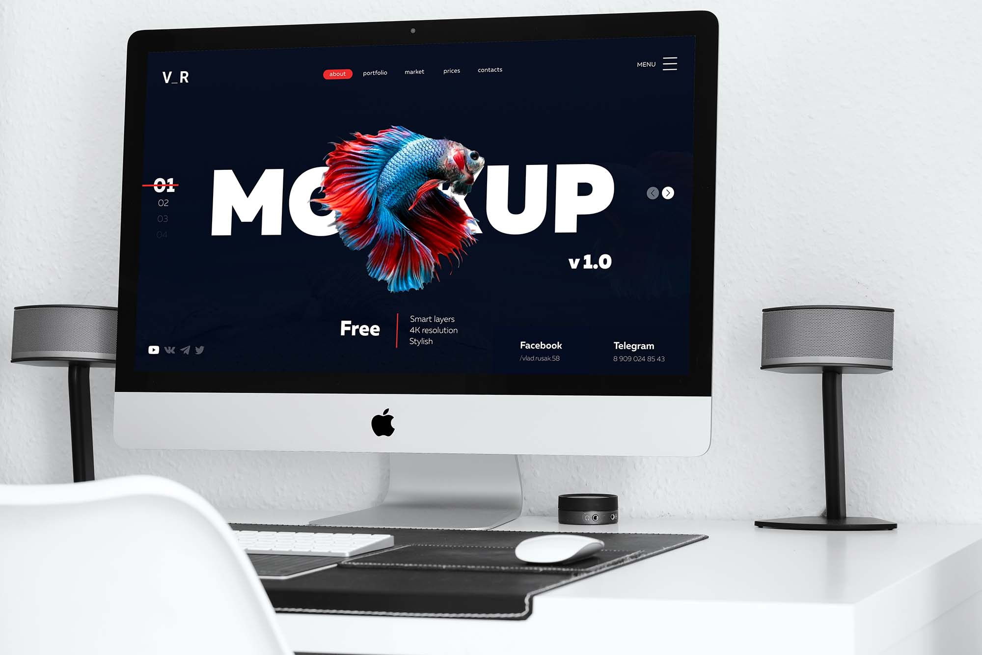Website Display Photoshop Mockup 2