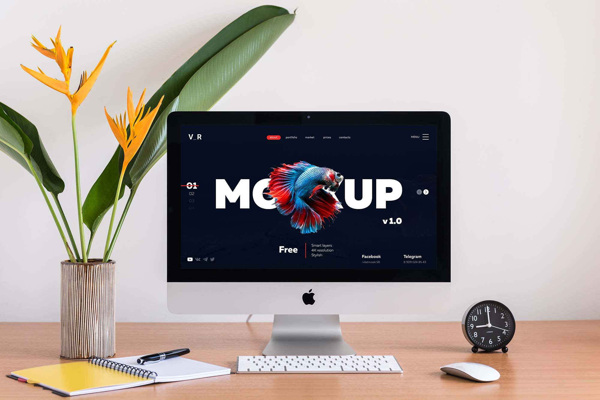 Website Display Photoshop Mockup 3
