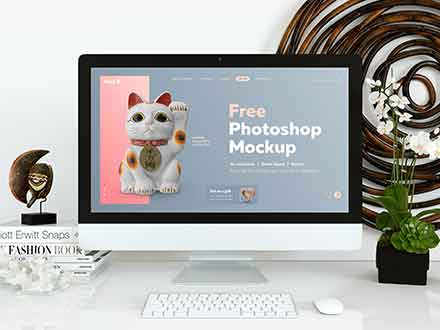Website Display Photoshop Mockup