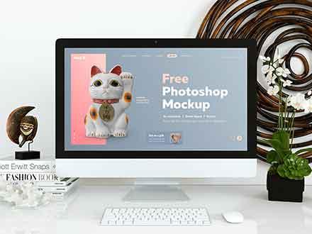 Website Display Photoshop Mockup