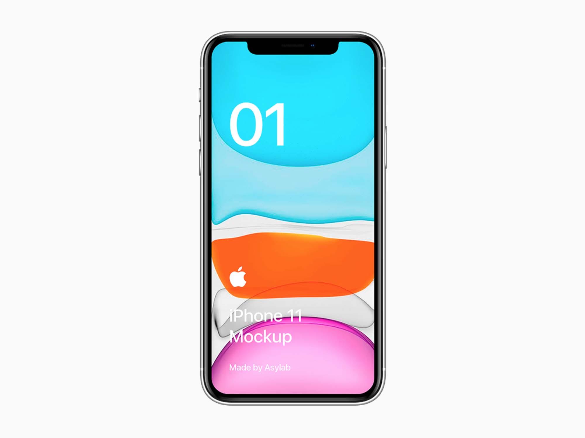 White iPhone 11 Mockup