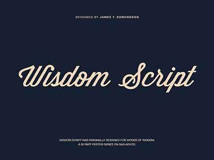 Wisdom Script Font