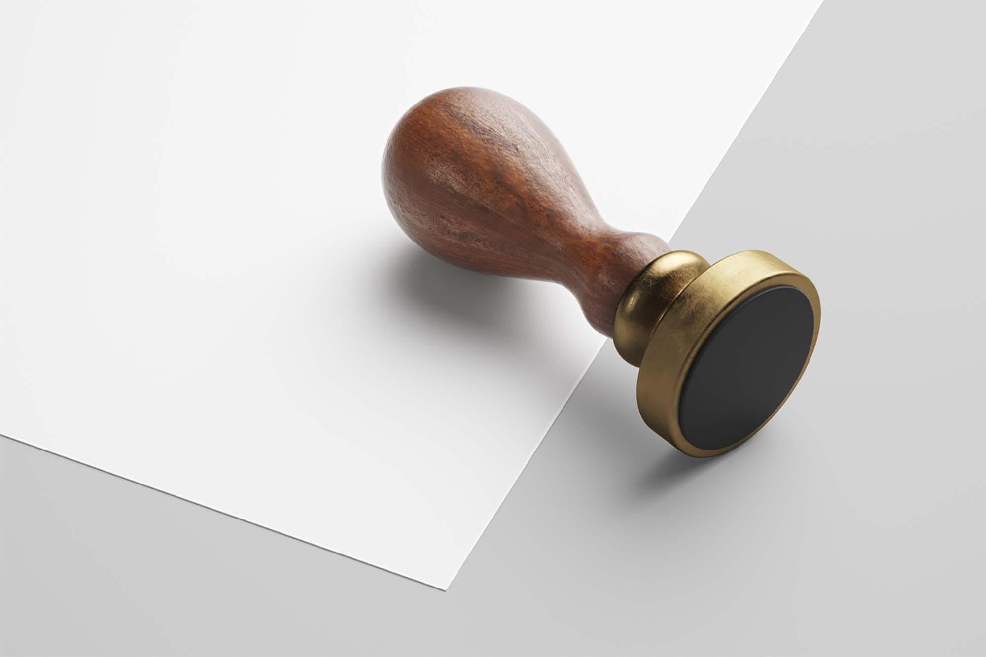 Wooden Stamp Mockup 2