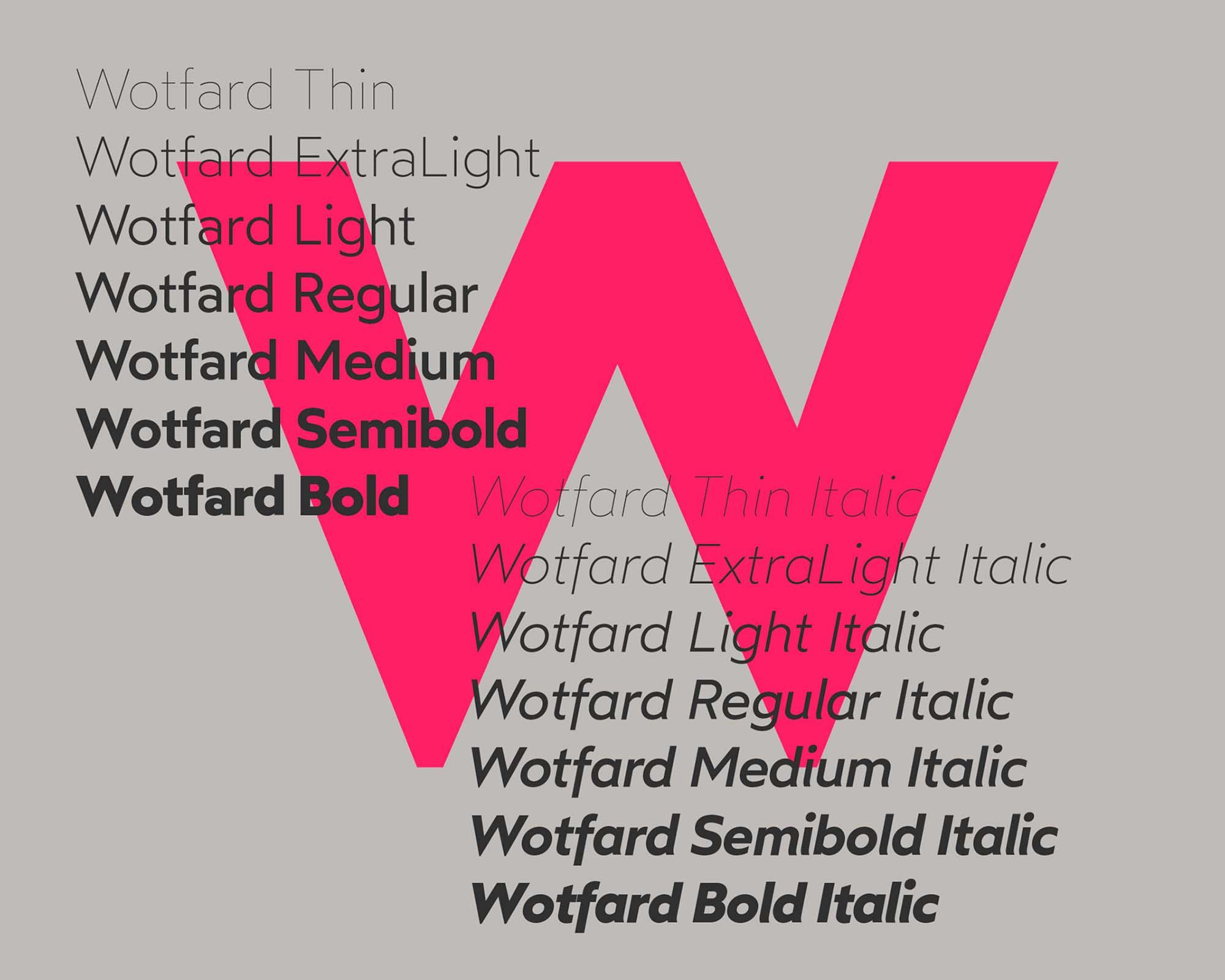 Wotfard Sans Serif Font